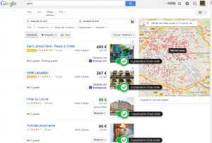 Visite virtuelle dans google hotel Finder